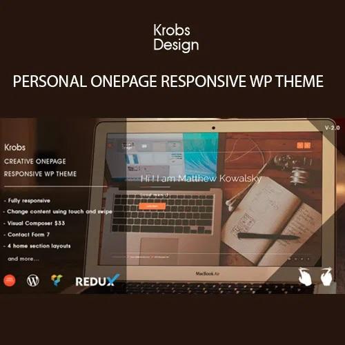 Krobs Personal Onepage Responsive WP Theme