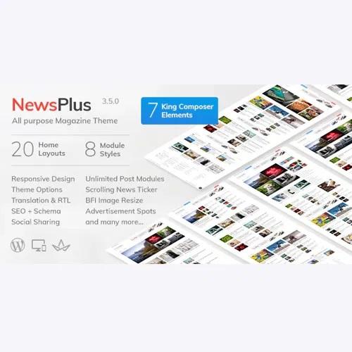 NewsPlus News And Magazine WordPress Theme
