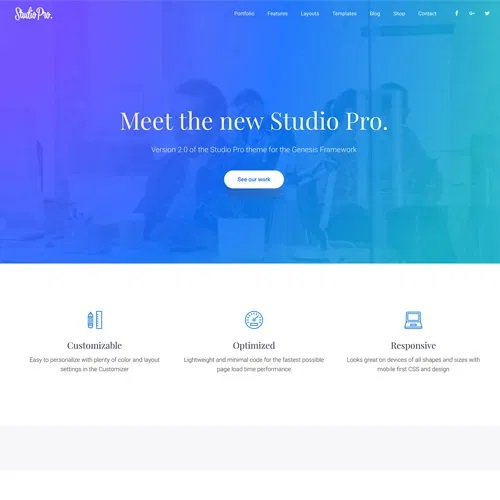 StudioPress Studio Pro Genesis WordPress Theme