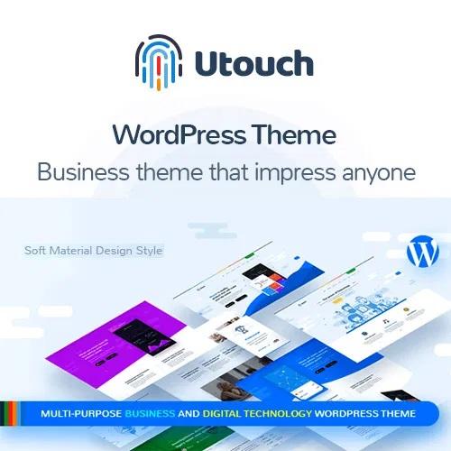 Utouch Startup Multi Purpose Business And Digital Technology WordPress Theme